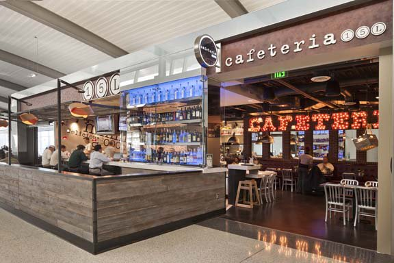 Cafeteria 15L was voted 2nd place as USA Today's Best Airport Bar/Restaurant:
