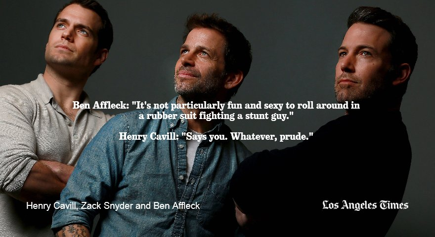 """.@Zacksnyder on @batmanvsuperman: """"They do fight, and the fight is compelling."""" https://t.co/GiGAnu7cR9 https://t.co/3q3DIpdSuN"""
