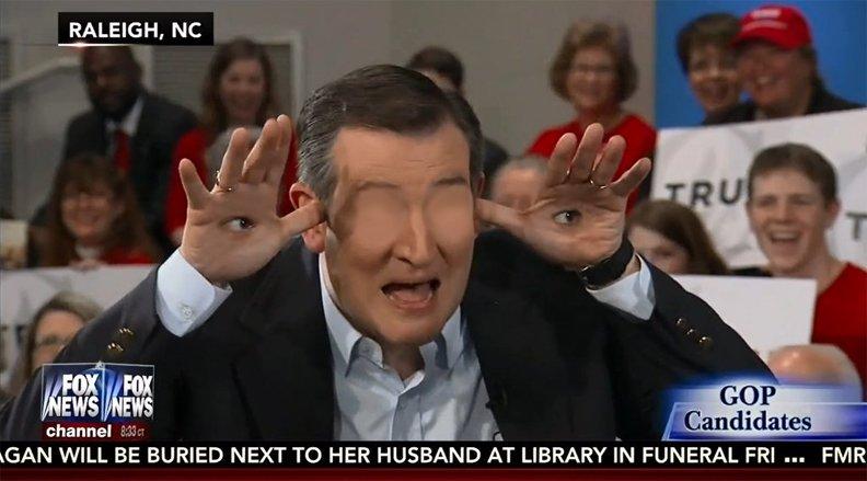 I missed the debate. Did Cruz do his hand thing!? https://t.co/U0LqC4kWZK