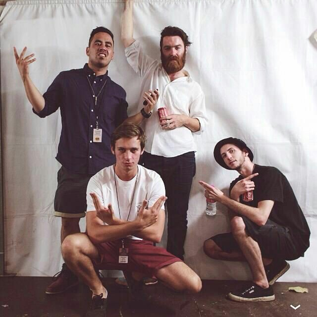 The Crew. Laneway Festival, 2013. @flumemusic @Chet_Faker @shlohmo @TakuBeats https://t.co/8hIJWNRHMG