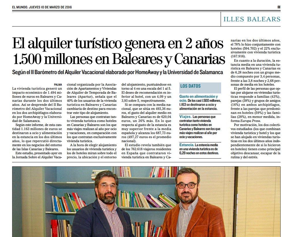 Principales resultados del II Barómetro Alquiler Vacacional Canarias y Baleares: https://t.co/VaeZJZ4ypP https://t.co/Y91wyiAcjf