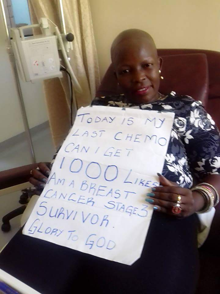 Please give my neighbor a 1000 RTs and a 1000 likes.  She just finished her radio & chemotherapy! https://t.co/FglF7JcJhy