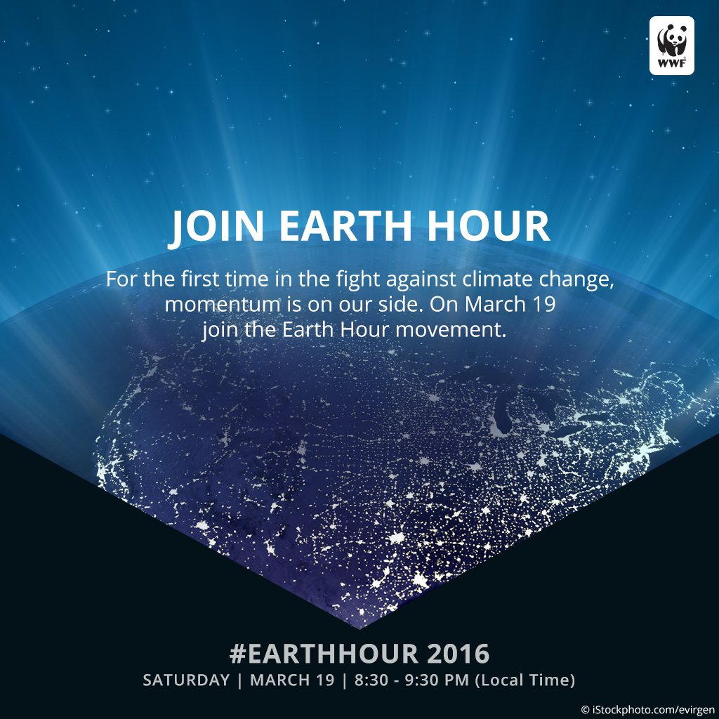 RT @World_Wildlife: Use your social power for climate action. Join us, March 19 at 8:30PM your time: https://t.co/V8jOXDjuJw #EarthHour htt…