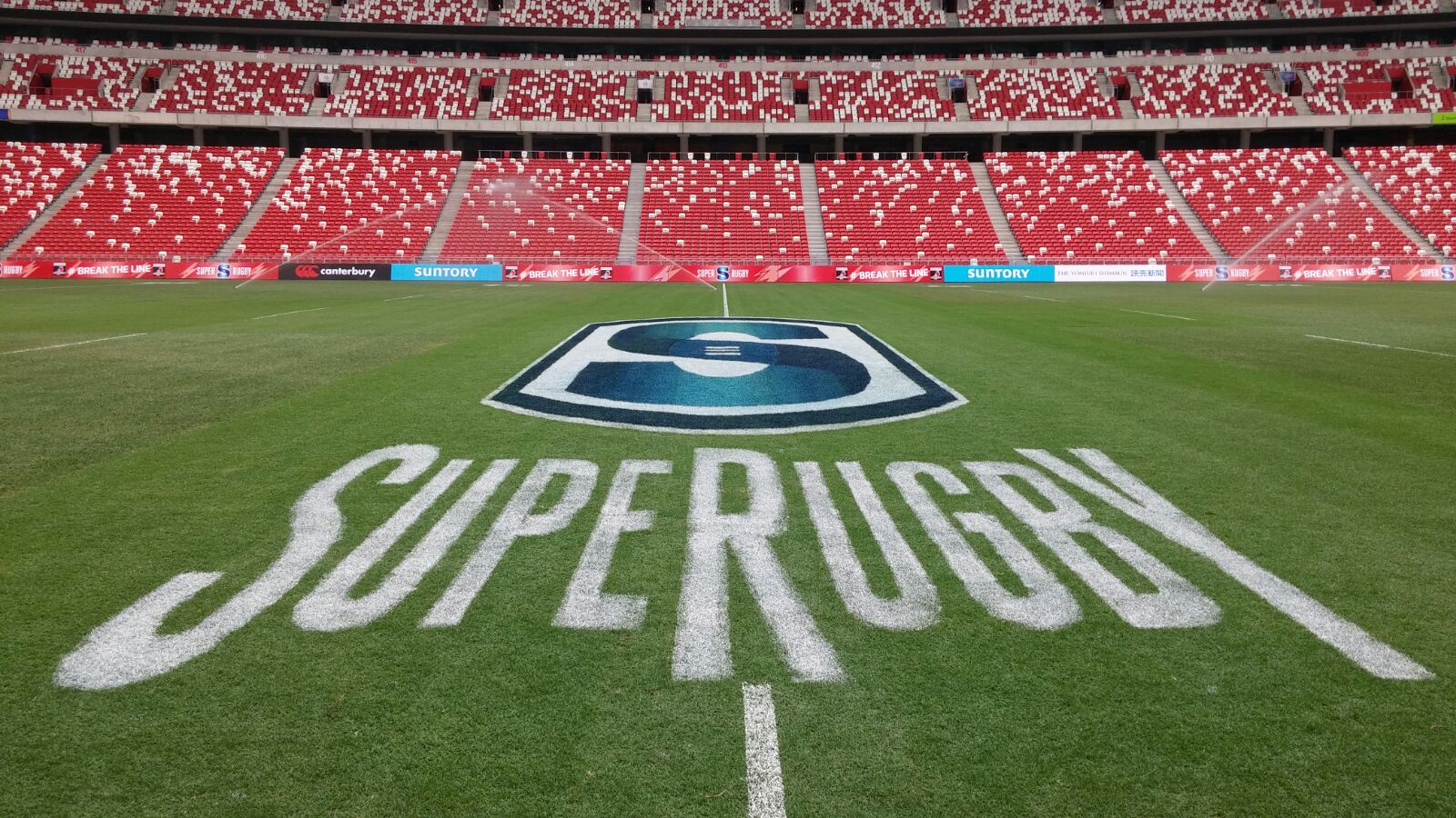 It's @SuperRugby MATCH DAY!! The pitch at SG #NationalStadium is ready to be filled w/ world class sporting action! https://t.co/VdTbvSrYrw