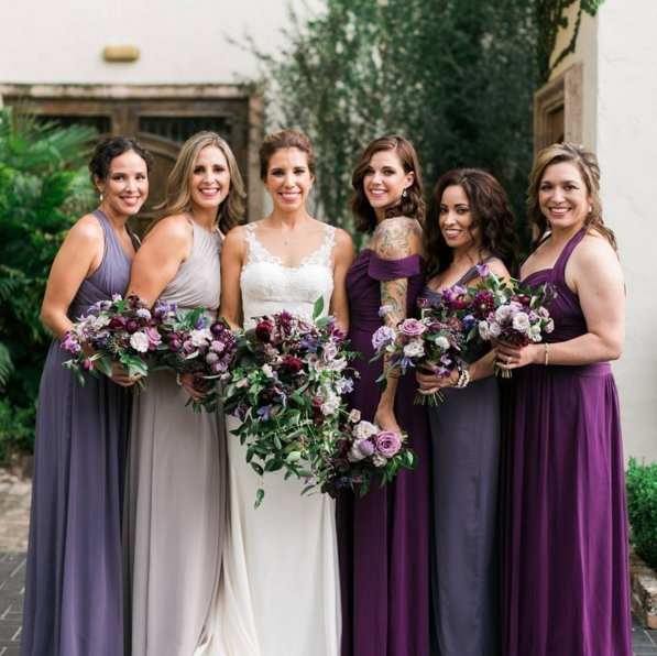 Gorgeous jewel-toned bridesmaids complemented by some stunning bouquets: https://t.co/qZ9ul6CjBl  Photo: @brideside https://t.co/JO4jxlqR41