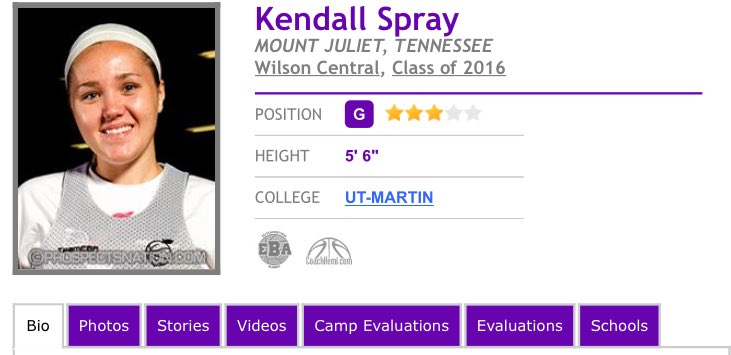 Best shooter in TN. Kendall Spray set State record w/ 170 3pt makes. Led Wilson Central to Elite 8 & UT-Martin bound https://t.co/2T379pHN2j