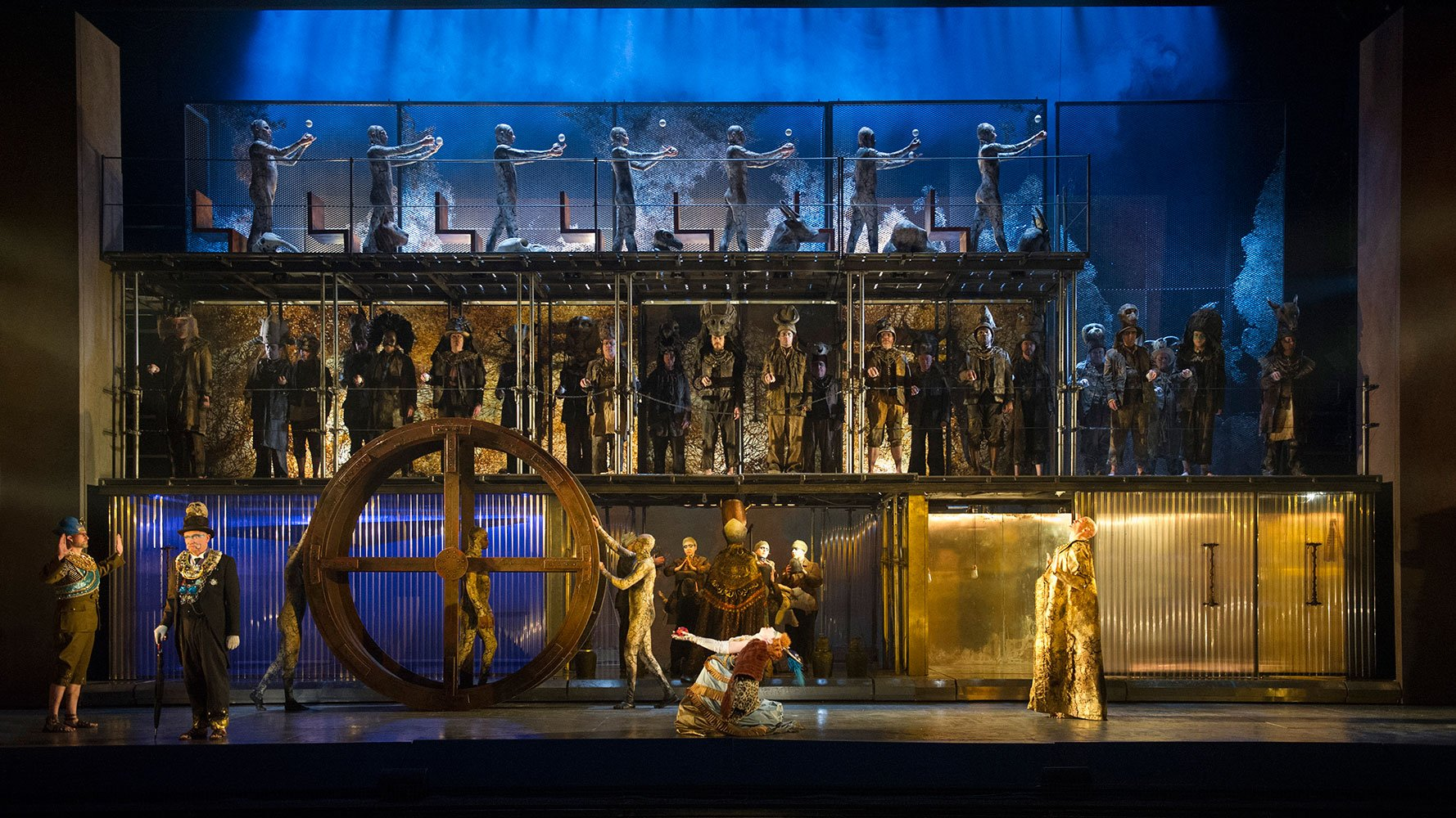 Liked the abstract production and the very slow coreography which reminded me of Japanese #Noh theatre. #Akhnaten https://t.co/AgXSNTG20B