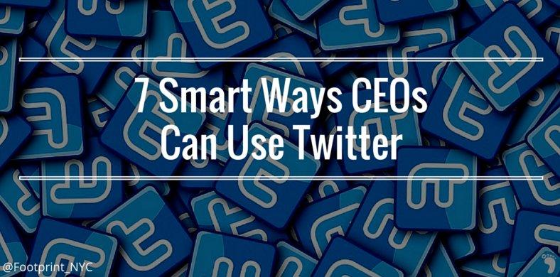 7 Smart Ways #CEOs Can Use #Twitter -> https://t.co/ZQDOpB8ZTH @MediaLabRat via @Footprint_NYC https://t.co/ap6kNGsnxy