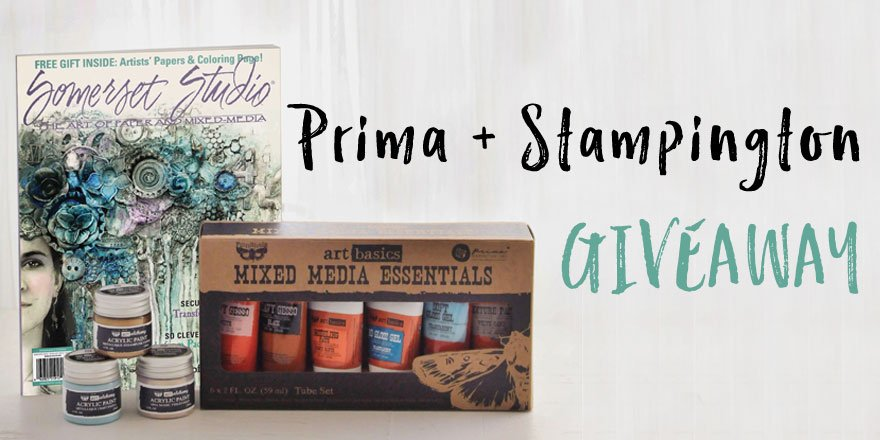 Retweet this image, comment, and follow @stampington & @Prima_Marketing for a chance to win! Contest ends 3/18. https://t.co/l4yVkibxWb