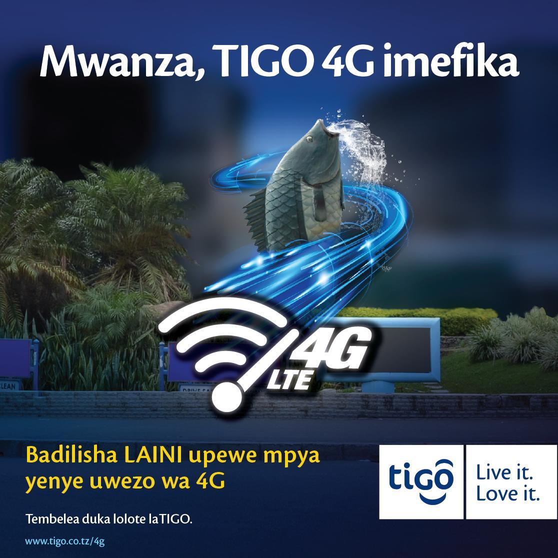 Badilisha laini upewe mpya yenye uwezo wa 4G! Mwanza Tigo 4G imefika! https://t.co/IRLmSWzYEK