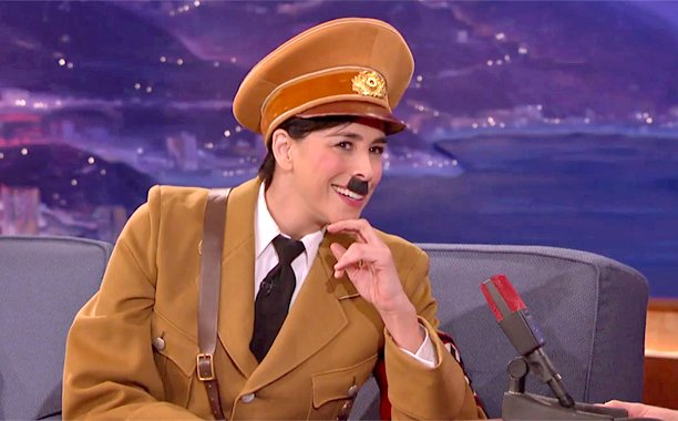 Sarah Silverman dressed as Hitler to discuss Donald Trump for Conan O'Brien: