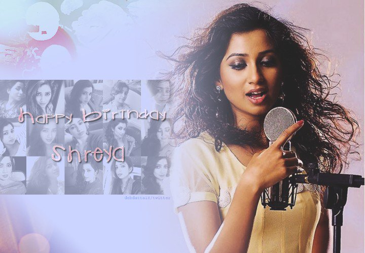 Happy birthday @shreyaghoshal ❤ Love u! Stay blessed. Keep being the music in our lives. #HappyBirthdayShreyaGhoshal https://t.co/P9Jqn1rpn4