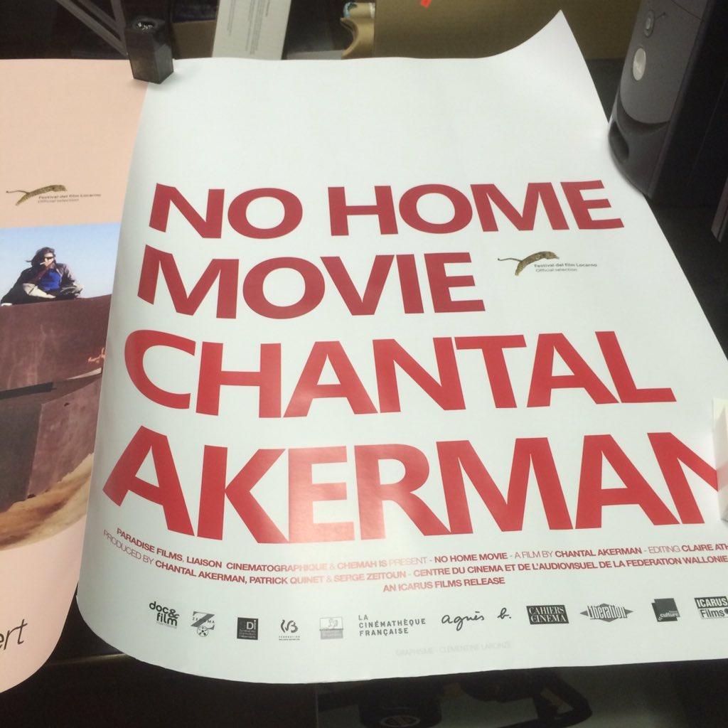 Poster for Chantal Akerman's  https://t.co/HTHRAEwUA7 final film NO HOME MOVIE #ComingSoon Opens Friday 1 April @BAM_Brooklyn @BAMcinematek