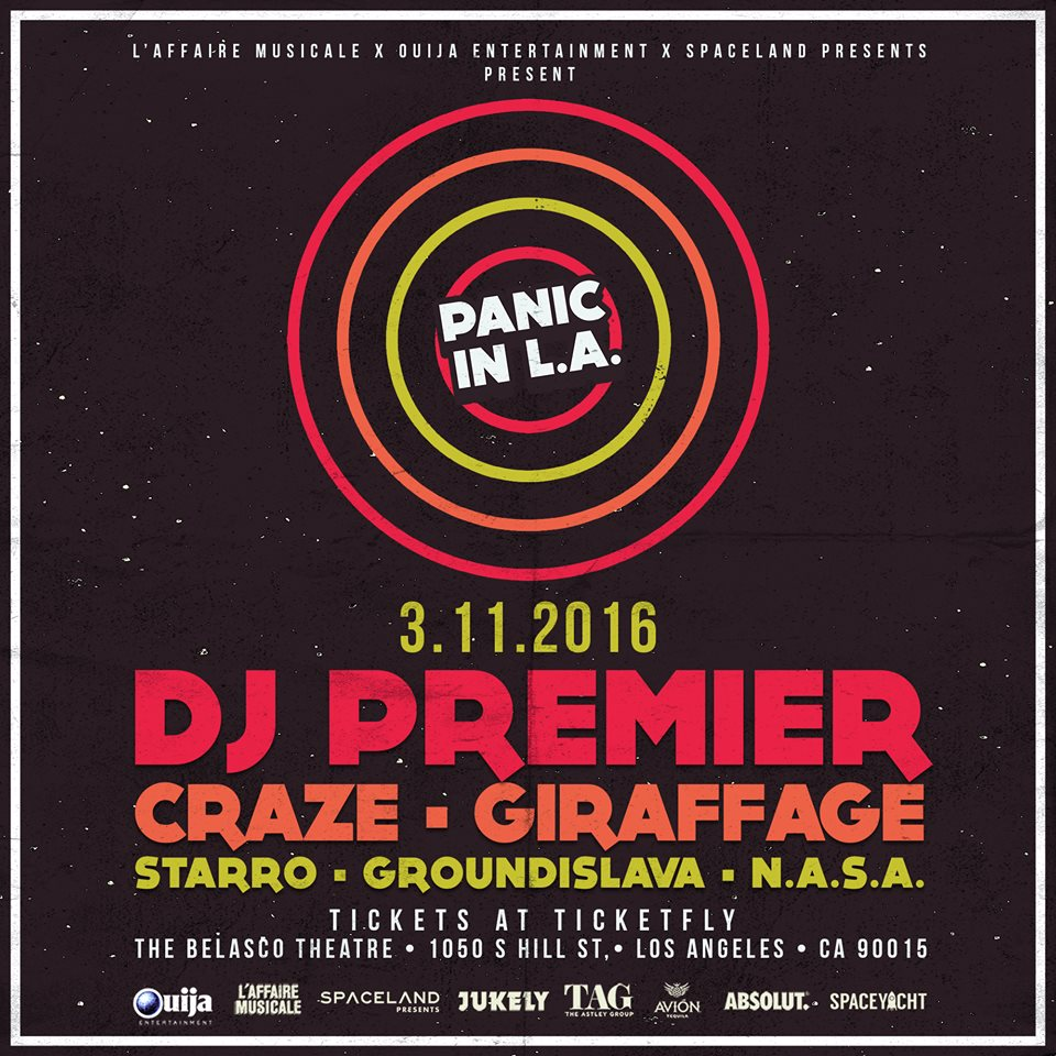 TICKET GIVEAWAY! DJ Premier, Craze, Griaffage at @RegentTheaterLA tonight! RT TO ENTER! https://t.co/v5oGTemjVN https://t.co/cmvjua5n4q