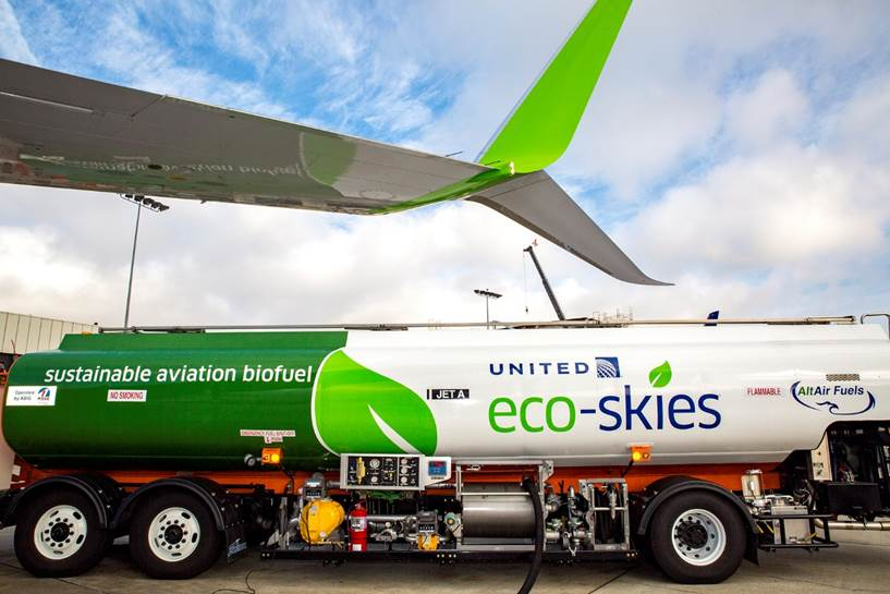Powered by renewable biofuel, today our Ecoskies 737 made history departing LAX.