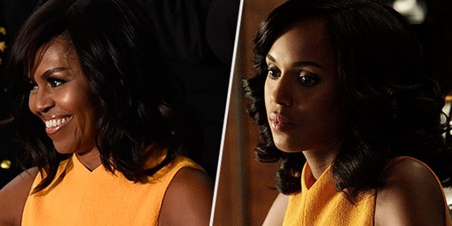 Olivia Pope wore Michelle Obama's State of the Union dress on Scandal! via @People_Style