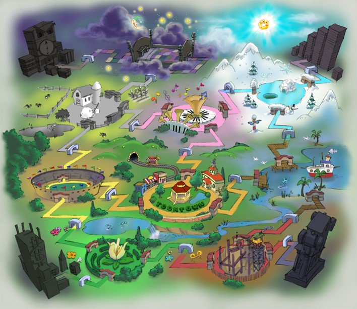 Some Toons have been asking to see the original concept map for Toontown. Well, here it is. #tto4ever https://t.co/2fWZU8JwvS