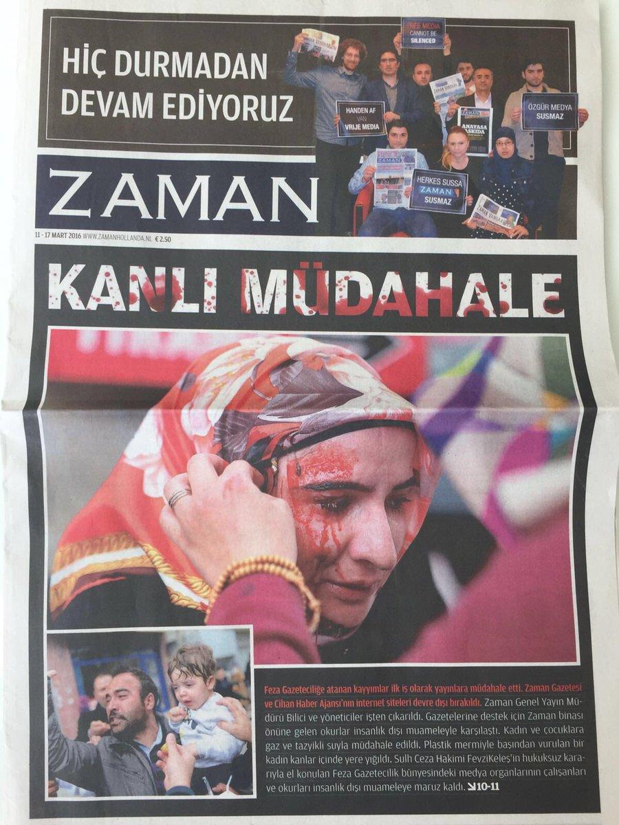 Historische voorpagina's #Zaman in de zware strijd tegen de oprukkende censuur in Turkije. #persvrijheid https://t.co/QB9BzDXMzP
