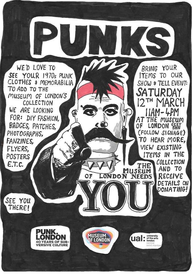 It's punk show & tell at the @MuseumofLondon today! https://t.co/ddQ1Y8yOxS
