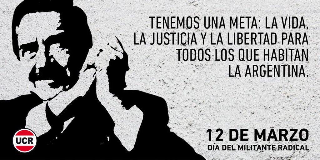 En el #DiaDelMilitanteRadical recordamos la lucha de Raúl Alfonsín por la democracia, la libertad y la igualdad. RM https://t.co/D2Jr6wLcDC