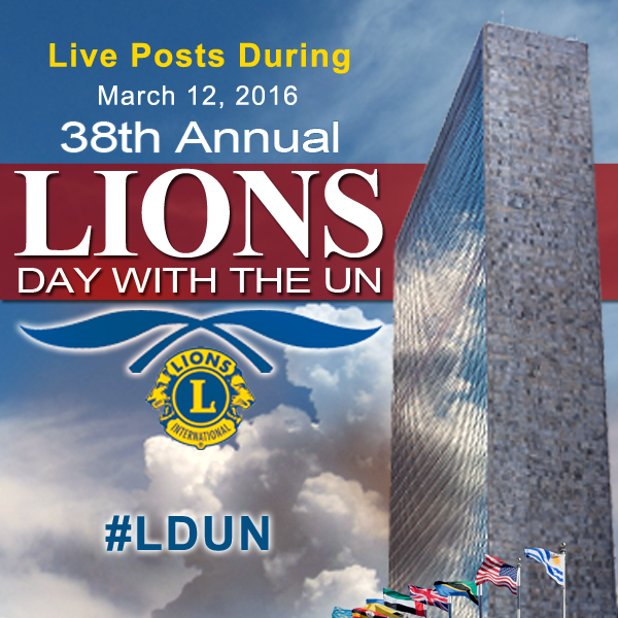 Follow #LDUN today for videos & discussion on #GenderEquality at 38th Lions Day w/ the United Nations! https://t.co/0KkJX4mX60