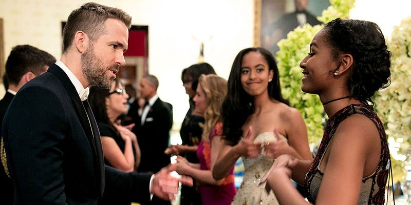 SiblingGoals! Malia Obama cheers on little sister Sasha as she fangirls over Ryan Reynolds