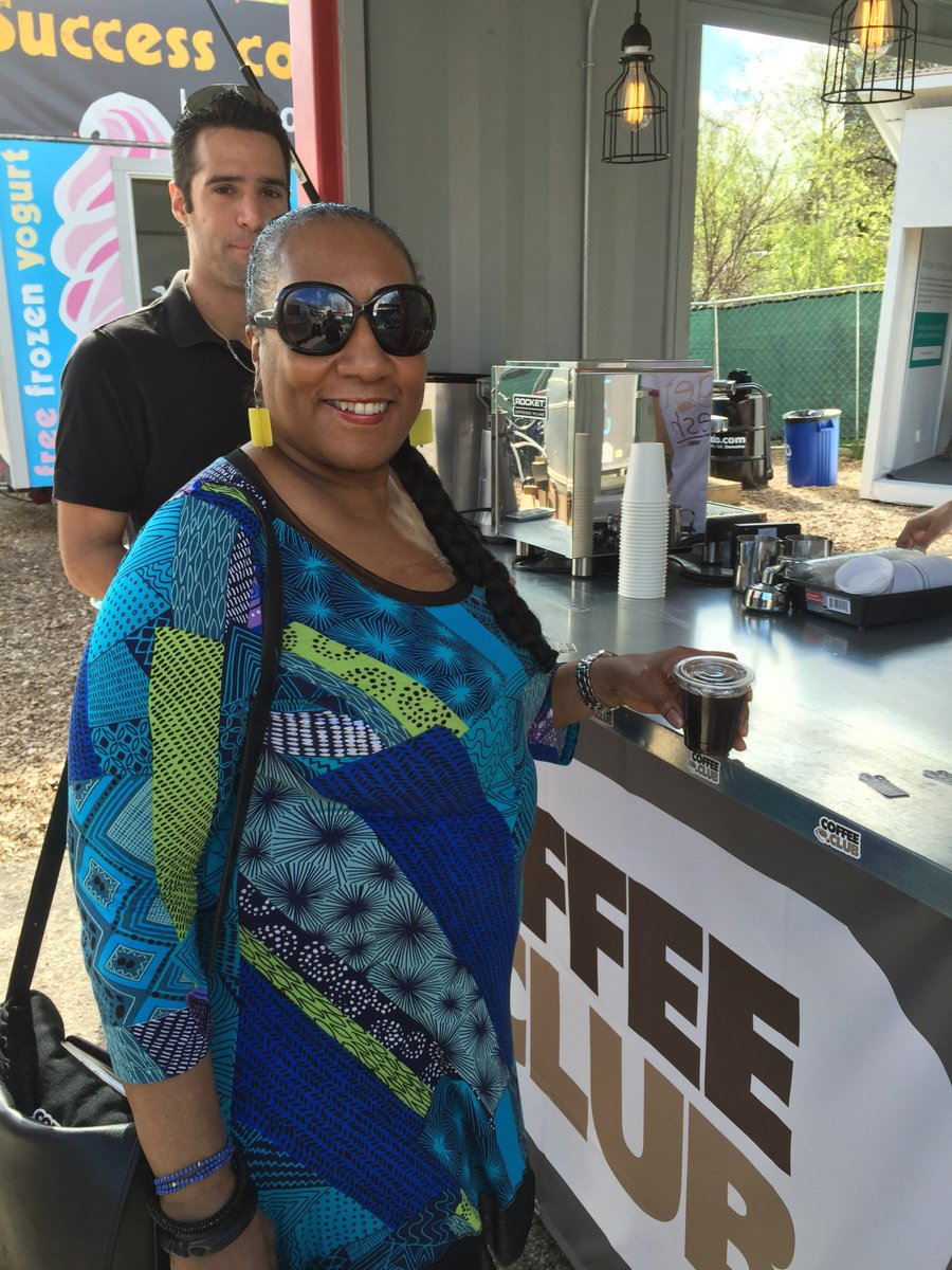 Our first visitor at the https://t.co/XZLFovrlcL free coffee booth at #SXSW! Visit us at the Sedo Domain Village! https://t.co/GzaEjTSf8P