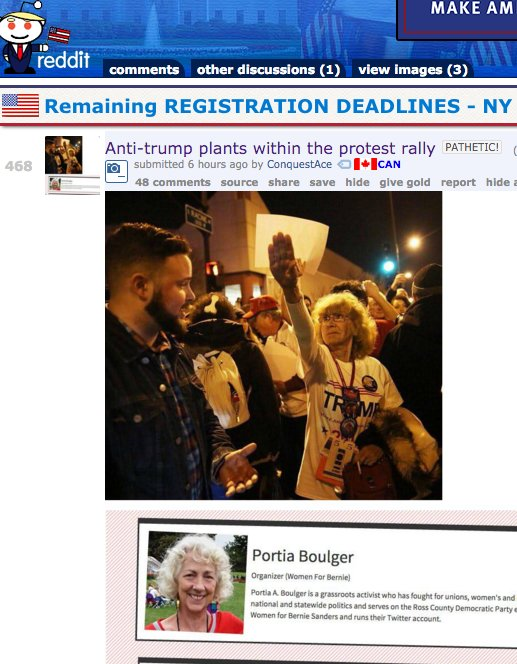 "Trump fans spreading a rumor ""heil"" woman was a Bernie plant. They framed the wrong person https://t.co/pJD8tSaQYr https://t.co/Dg07I7Zw6r"