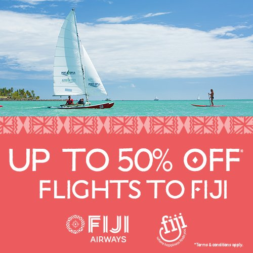 RT @FijiAirways: Dreaming of FijiNow? Well wake up! Round trip flights from the U.S. are now UP TO 50% OFF! https:…