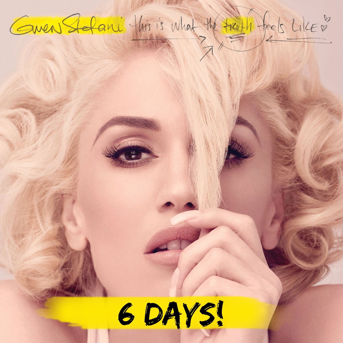 Countdown: 6 days left!!! #ThiIsWhatTheTurthFeelsLike @gwenstefani https://t.co/zgAnz81Gpo