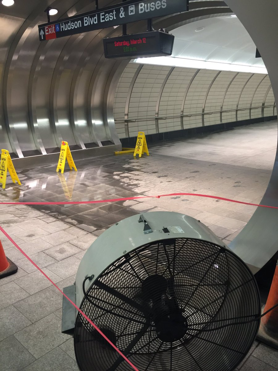 Let's check in on the city's newest subway stop, open just six months. https://t.co/yc7z4WLbiP
