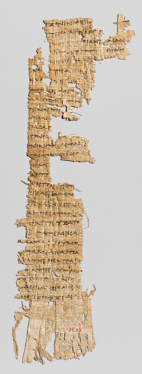 First early Ptolemaic fragment of the Odyssey ever discovered.  ca. 2,275 year old papyrus  https://t.co/bTObFbNpEK https://t.co/EXH3zzBRhw