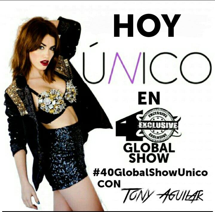 Esta tarde en @40GlobalShow  @Tony__Aguilar presenta en EXCLUSIVA lo ultimo de @laliespos #40GlobalShowUnico 19h https://t.co/9FmpZC2FU9