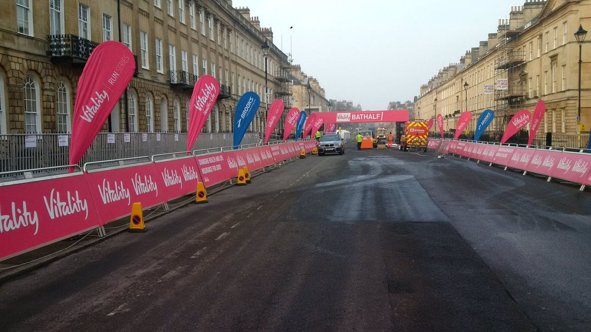 Great Pulteney Street looks like it might need a few runners to fill it up! #bathhalf https://t.co/DPRqLKcsNF
