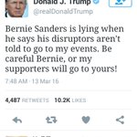 Image of rhetoric from Twitter