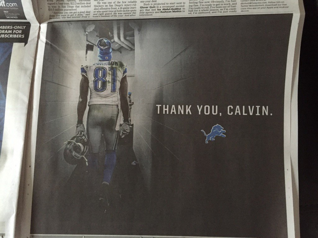 "The ""thank-you"" ad the Lions took out in today's @freep https://t.co/U7RogOKSiT"
