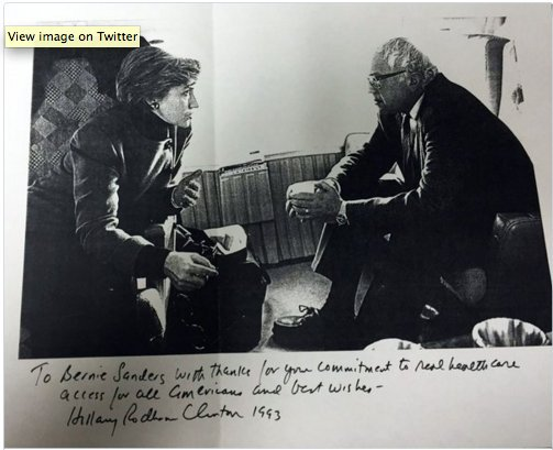 """.#WhichHillary Clinton today: """"I don't know where he was when I was trying to get health care."""" Clinton in '93: https://t.co/GQaD875Kyd"""