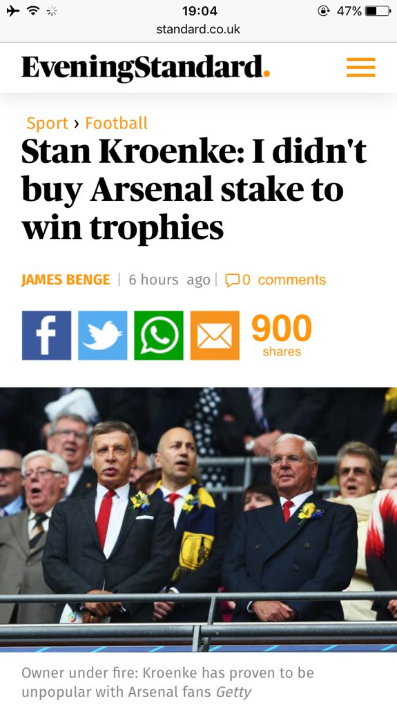People really think the problem starts with Wenger when our OWNER just said this??? WAKE UP. https://t.co/0NurvhNwaW