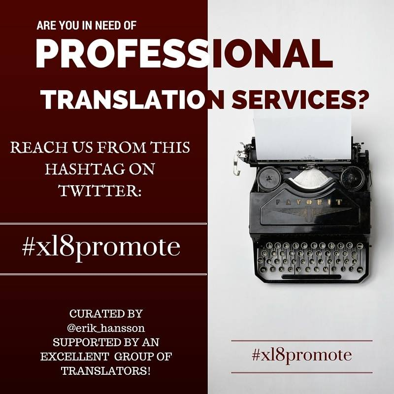 3.30 pm cet: Daily (Monday-Friday) #xl8promote tweet w/ presentation of #excellent #translators in my network. https://t.co/gbQIz75a2s