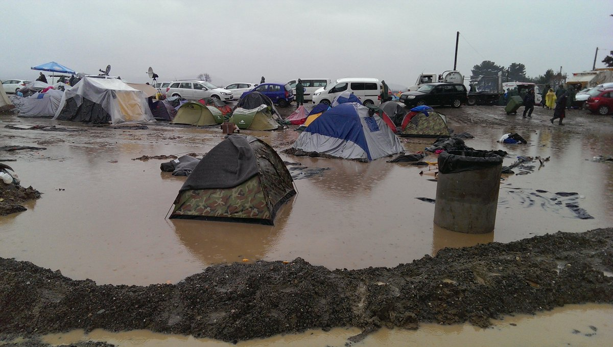 RT @MSF_Sea: The rain in #idomeni just isn't stopping. This is what part of the camp already looks like with more rain forecast! https://t.…