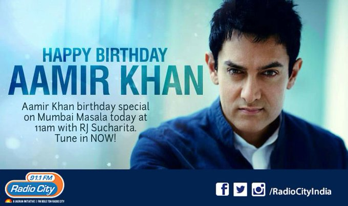 Wishing a very happy birthday.Tune into with RJ NOW for his birthday special.