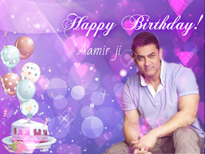 Happy birthday,Aamir ji wish you all the very beautiful  and let  there be fulfilled your dream