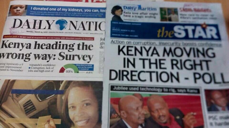 Kenya is heading in the ______ direction? (20mrks) https://t.co/inHv5c1Hdl
