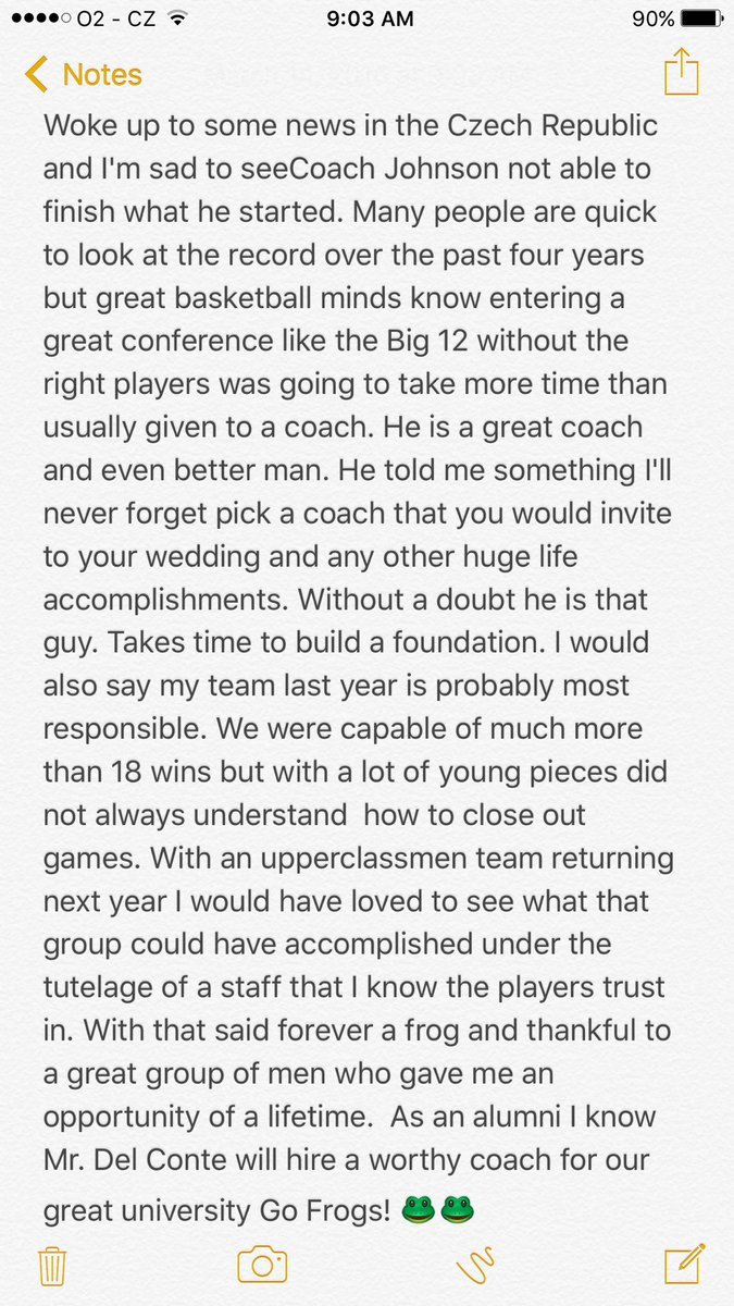 Just an alumni speaking his mind! Sad to see a great university and great coach part ways. Still forever a frog