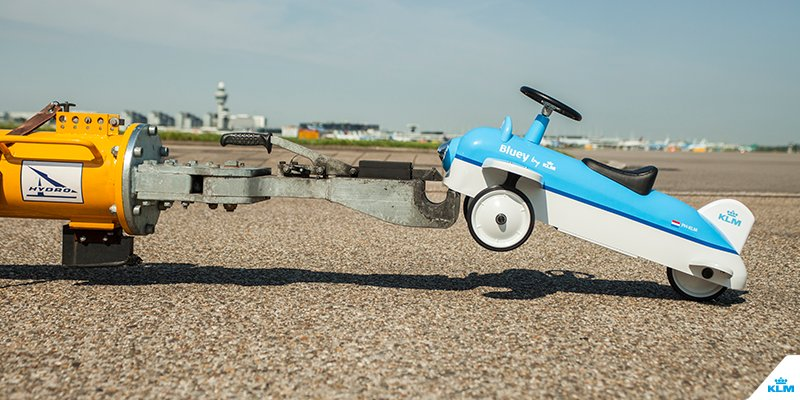 Bluey, our walking plane doesn't fly, but will be delivered to your doorstep.