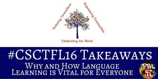 NEW POST on PBL in the TL: #CSCTFL16 Takeaways - Why and How Language Learning is Vital for Everyone … https://t.co/wJJT8qO6F9