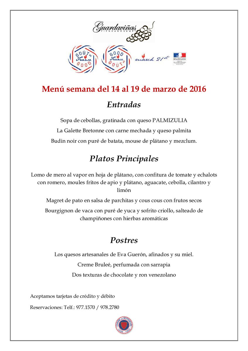 Hoy comienza Gout de France: La fiesta de la gastronomía francesa ¡Nous célébrons! https://t.co/2SqxfYAaef