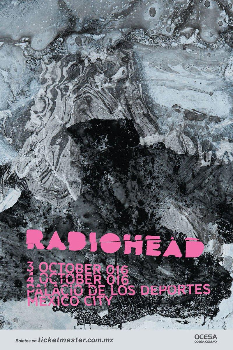 Póster oficial para el regreso de @radiohead a México el 3 y 4 de octubre de 2016.  #RadioheadMx https://t.co/2dqc9Wsltn