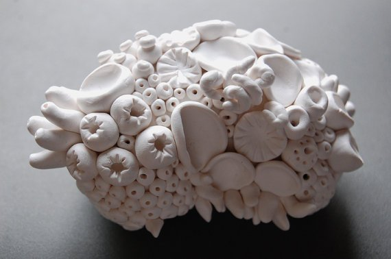 Coral Reef Sculpture  White Clay Textures of the Sea https://t.co/GcdfJvgGjs via @Etsy #handmade #sculpture #art https://t.co/oSbKiPN2g3