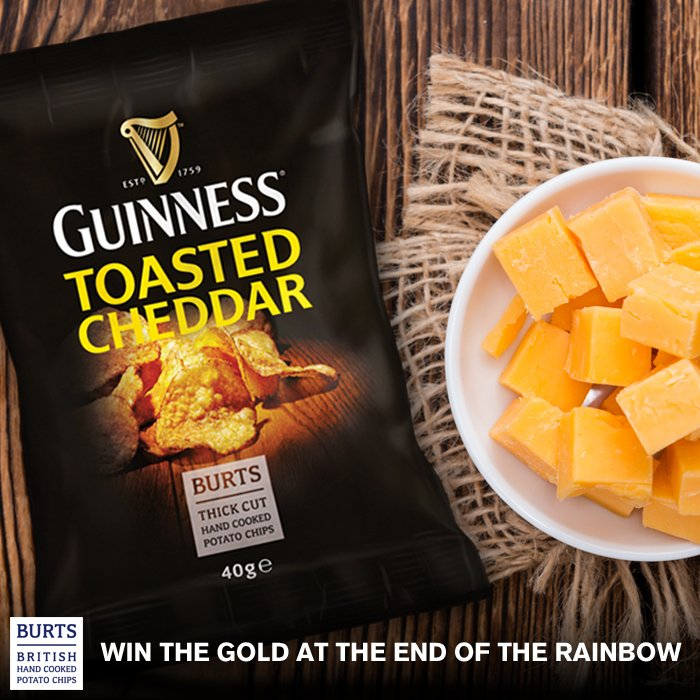 @BurtsChips Follow and retweet to win 1of15 cases of Guinness Toasted Cheddar crisps! T&Cs: https://t.co/DKxgw5HWDr  https://t.co/jddIwGaQzt